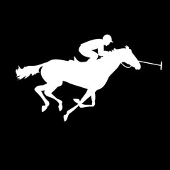 Horse polo silhouettes