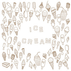 ice cream in waffle cones Background