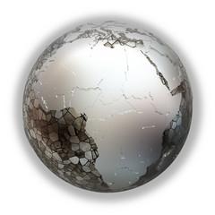 Africa on metallic Earth