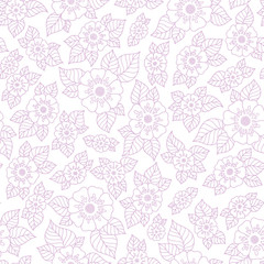 Lace seamless hand drawn vector pattern.