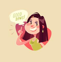 Good news! Vector illustration.