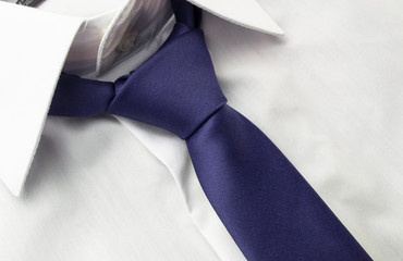 Detail view of business shirt with tie