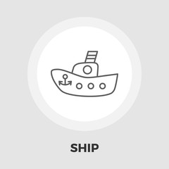 Ship toy vector flat icon