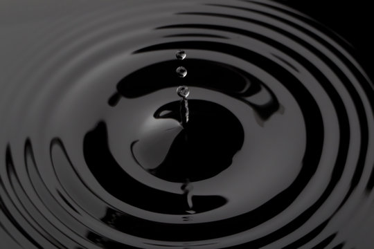 droplets of black water