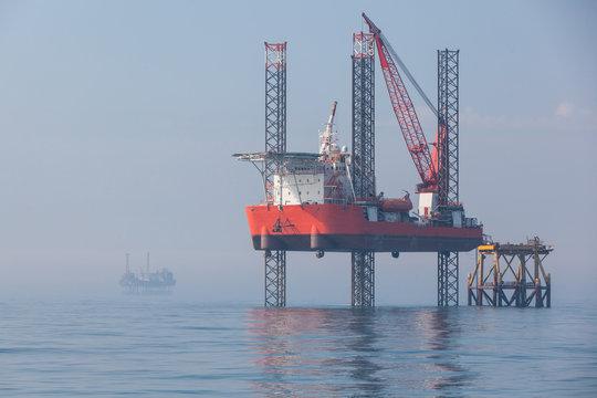 Oil platform in Azerbaijan