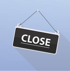Vector close door sign.