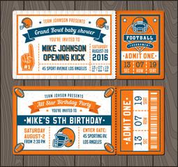 Football invite tickets
