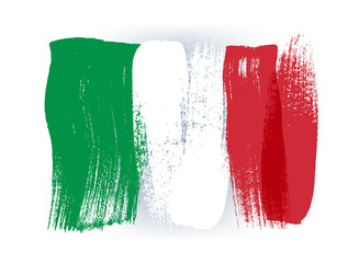 Italy colorful brush strokes painted flag. Fotomurales