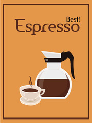 Coffee background poster. Vector image. isolated