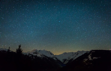 Deep sky at the Alps in Austria