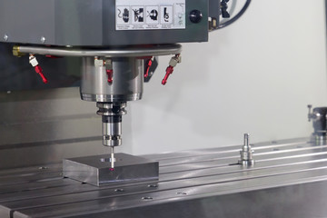 CNC milling machine working, Metalwork set up process