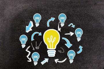 Composite image of diagram idea