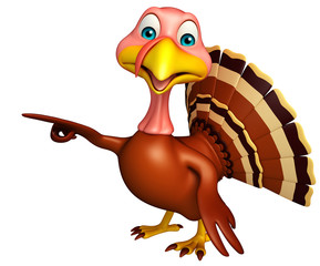Pointing Turkey cartoon character