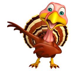 Pointing Turkey cartoon character
