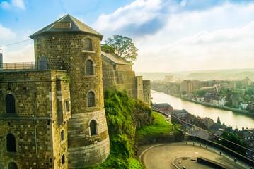 View of Citadel of Namur, Wallonia, Belgium