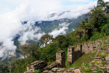 South America - Peru, Inca ruins of Choquequirao