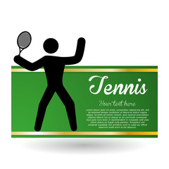 Tennis design. Sport icon. Isolated illustration, editable vector