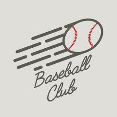 Baseball club logo, badge or symbol design concept with ball