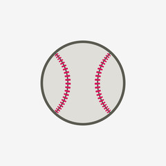 Baseball ball vector icon, sport equipment