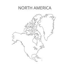 North America map. Vector illustration.