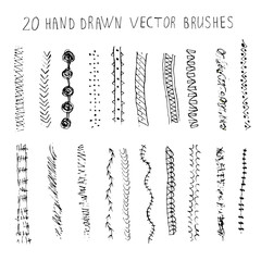 Pattern brushes set. Vector.