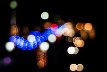 Colorful LED light bokeh defocus background