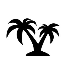 palm tree black icon vector
