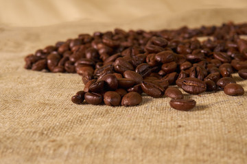 scattered coffee bean