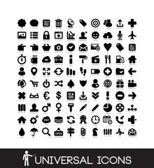 100 basic icons set - mobile, business, internet, social icon