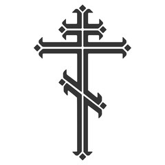 Ornamental orthodox cross.