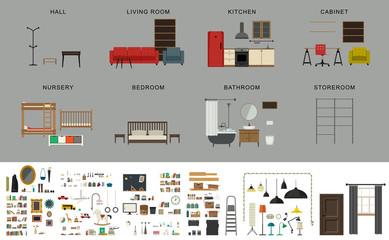 Furniture interior elements