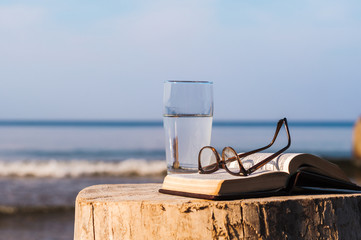 Book and glass