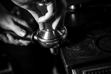 Professional coffee preparation