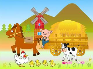 Poster Ranch 酪農の仕事