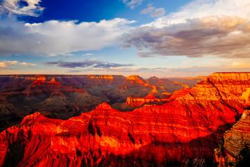 Fond de hotte en verre imprimé Rouge Mather Point, View Point, Grand Canyon National Park, Arizona, USA