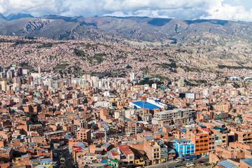 Aerial view of La Paz, Bolivia