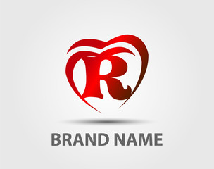 Abstract letter R icon