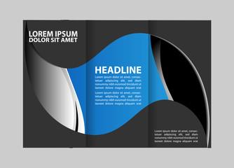 brochure design template arrows lines circles