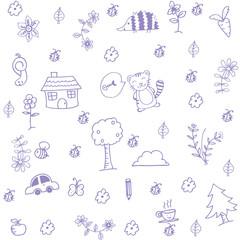 Funny garden of doodle art