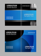 Vector brochure, flyer, magazine cover & poster template. Two ( 2 ) Pages