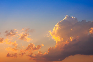 Abstract nature background. Dramatic and moody sky