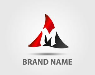 M company vector logo and symbol Design