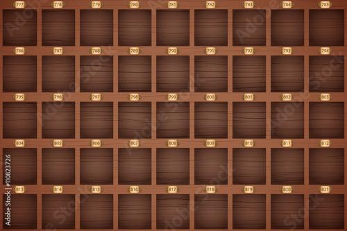 Vintage hotel front desk key rack stock image and royalty free vector files on - Vintage hotel key rack ...