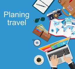 Banner Travel planning.