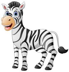 Cartoon cute zebra