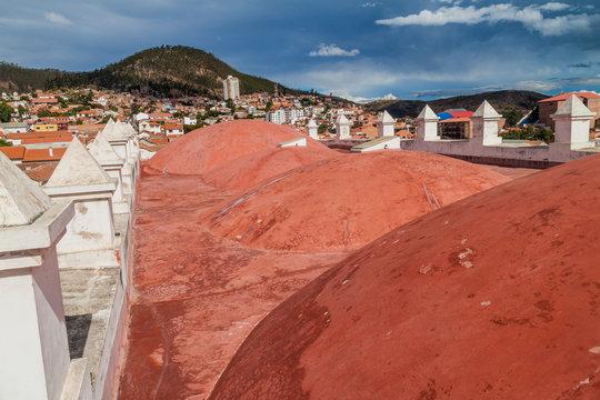 Roof of Templo Nuestra Senora de la Merced church in Sucre, capital of Bolivia.