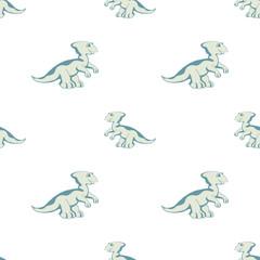 blue Dino on white background
