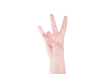Finger Spelling the Alphabet