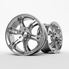 Aluminium Alloy rims, Car rims. 3D rendering.