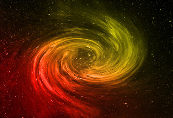 abstract galaxy swirl in deep space. beautiful banner wallpaper design illustration